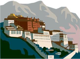 Potala Palace in Lhasa, Tibet            Former Residence of the Dalai Lama